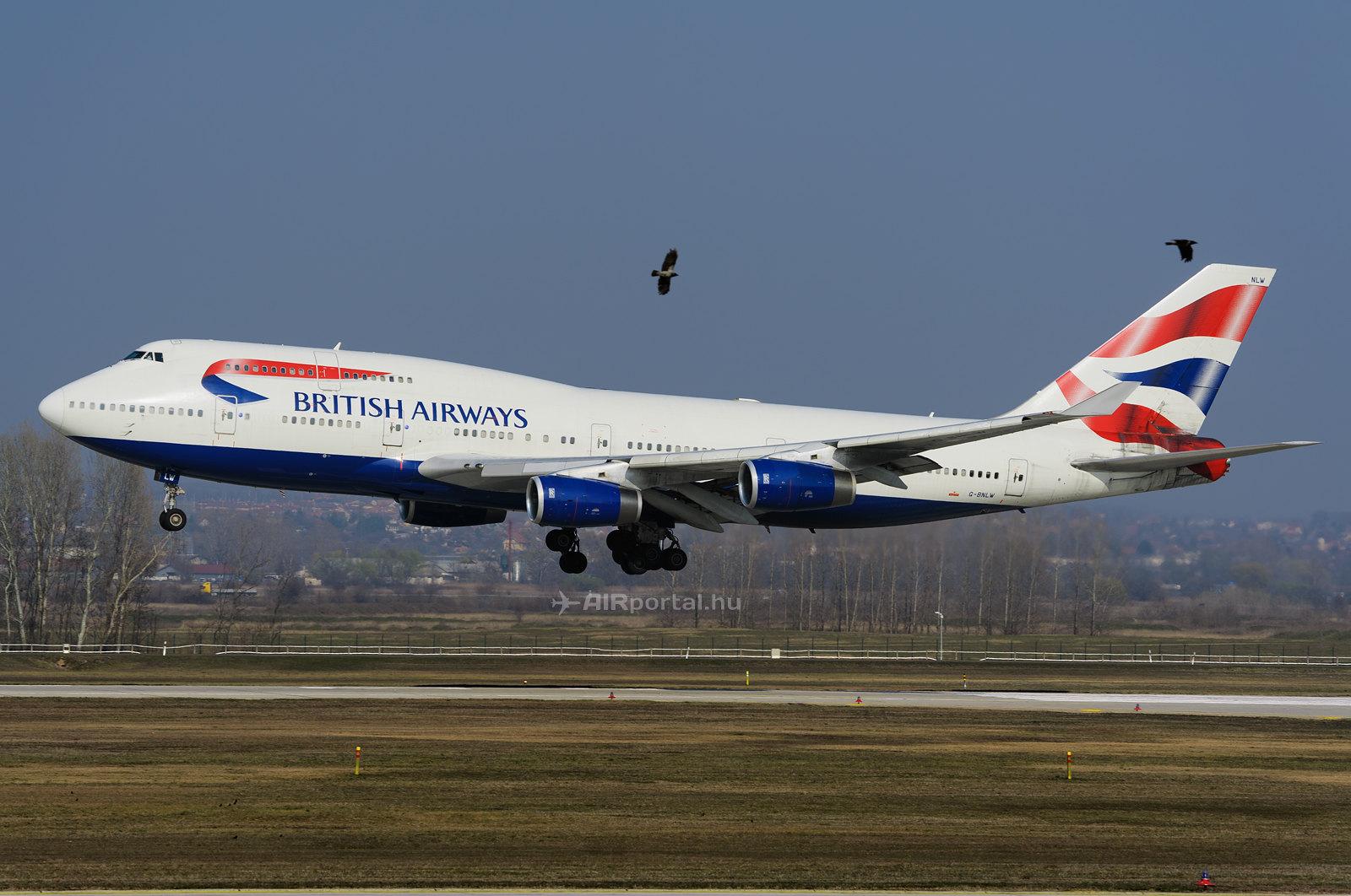 A British Airways 747-400-asa Budapesten 2014-ben. <br />&#40;Fotó: AIRportal.hu&#41; | © AIRportal.hu