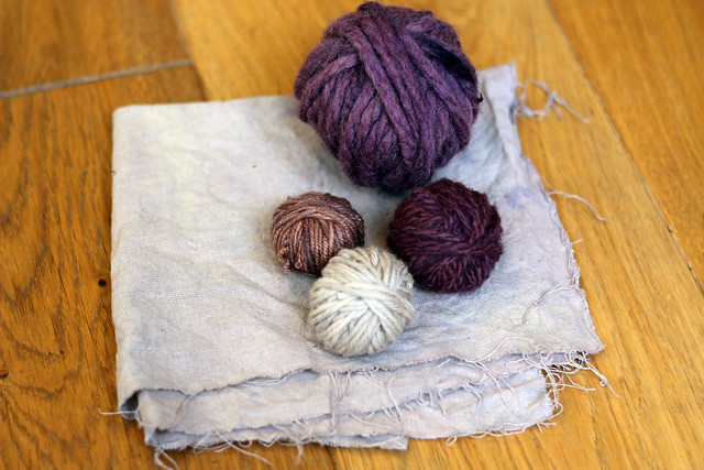 Yarn Naturally Dyed with Logwood