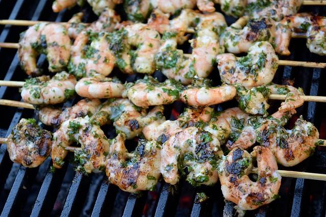 Barbecue Herby Lemon & Garlic Prawn Skewers