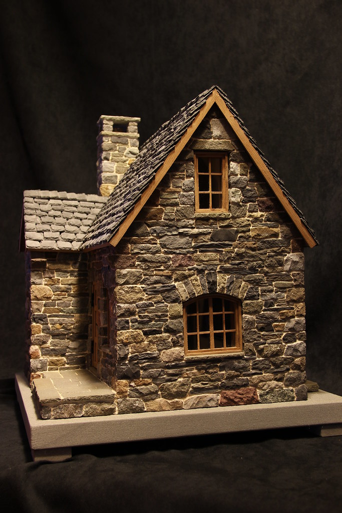Miniature stone cottage pedro davila flickr Stone cottage kit homes