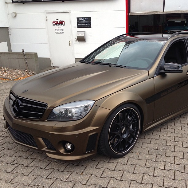 Mercedes C63 Amg Foiled In Matt Bind Gold Metallic By Www