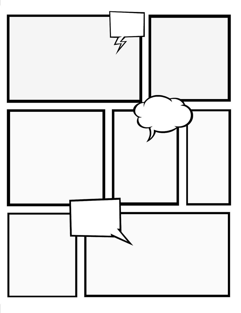 comic strip bubble template - comic book template stretch your creativity and create