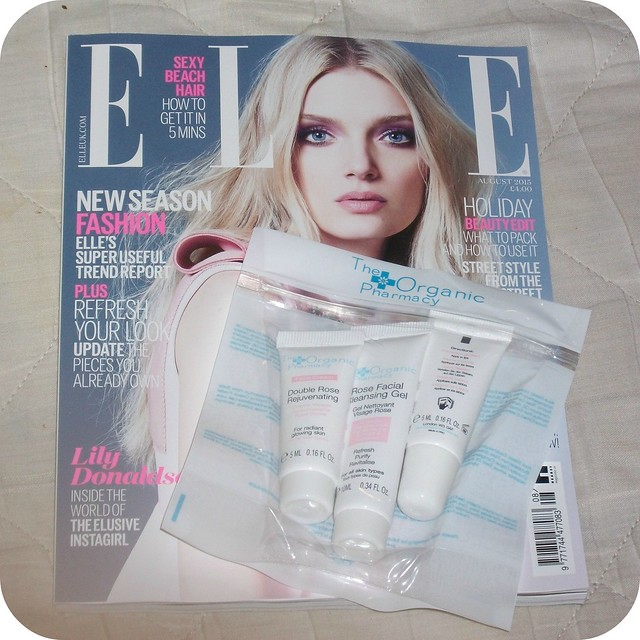 ELLE Magazine Freebies Organic Pharmacy August 2015