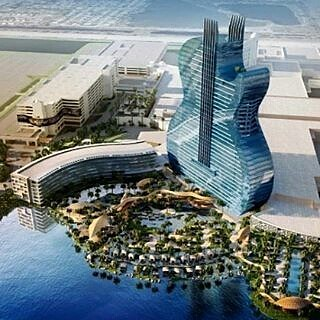 From Condoinvestmentsmiami Guitar Shaped Hotel Now Unde