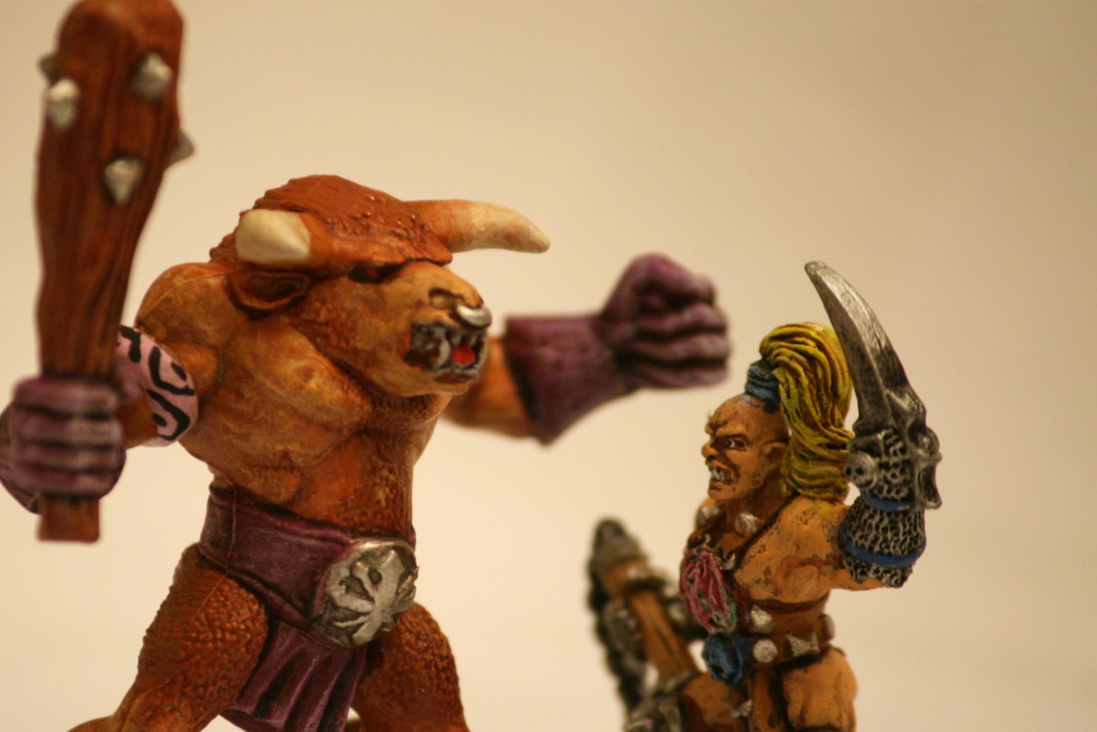 all sizes  warhammer quest  duel minotaure versus pit