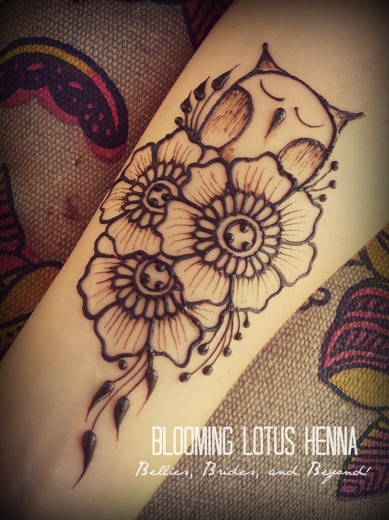 owl garden henna forearm wwwbloominglotushennacom