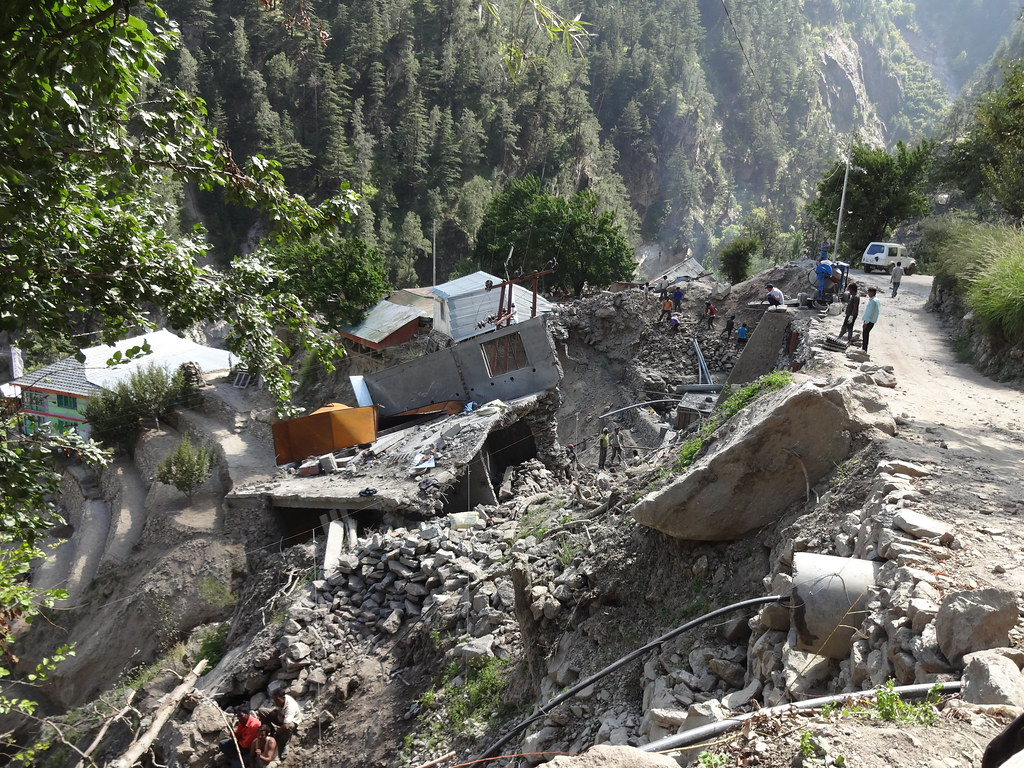 Landslides during the 2013 floods were attributed to hydel projects.
