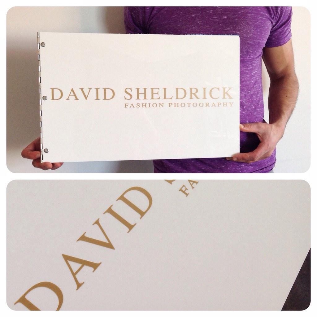 Custom Fashion Design Portfolio Book With Matte Gold Vinyl