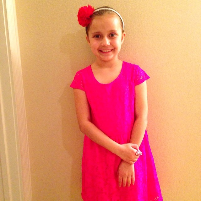 My only daughter, Bella Rose Thibodeau is all set for me t ...