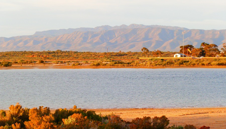 Flinders Ranges across Spencer Gulf, Port Augusta