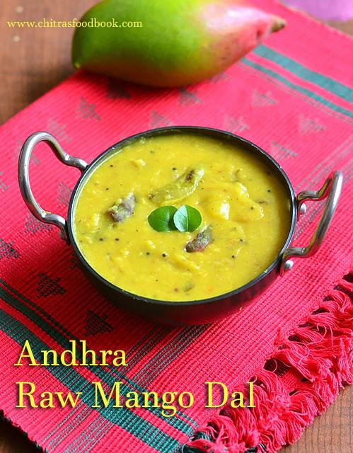 MAngo dal recipe - mamidikaya pappu recipe