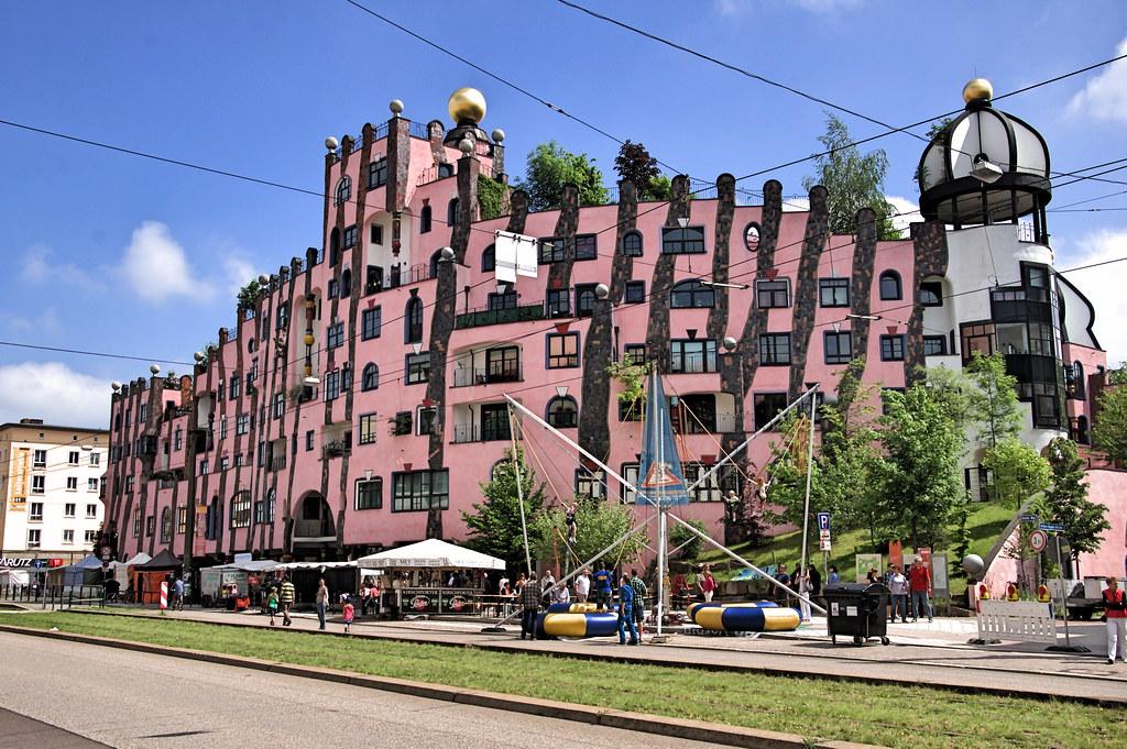 hundertwasserhaus magdeburg the green citadel is a. Black Bedroom Furniture Sets. Home Design Ideas