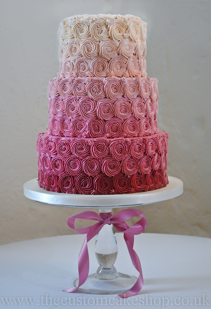 Ombre Cake Rosettes