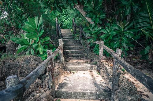 海岸の階段