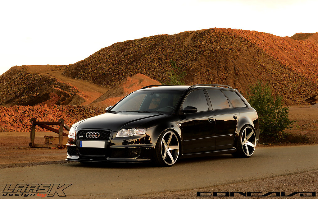 Audi Rs4 On 20x10 5 Cw 5 Matte Black Machined Face Flickr