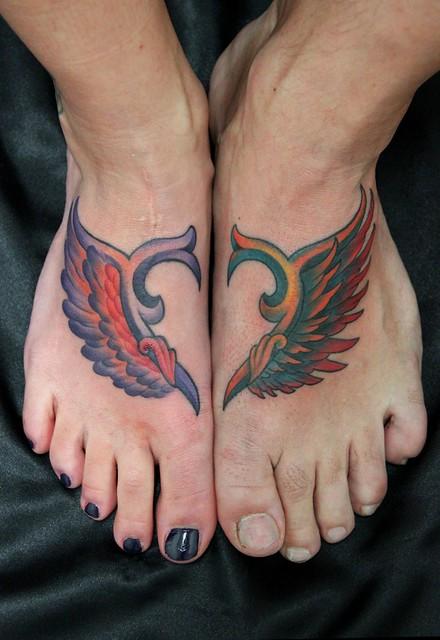 partner tattoo partner tattoo herz fl gel ornament by skindeepart flickr photo sharing. Black Bedroom Furniture Sets. Home Design Ideas