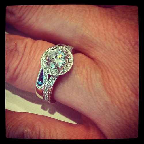 That's the going to be the one. But with a sapphire center stone. Minus the wedding band. #MarryMe?