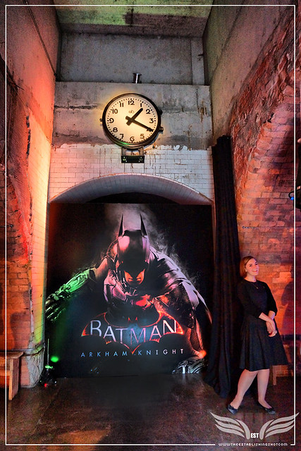 The Establishing Shot: ENTRANCE OF THE BATMAN: ARKHAM KNIGHT CAPE & COWL EXHIBITION @ KACHETTE, LONDON