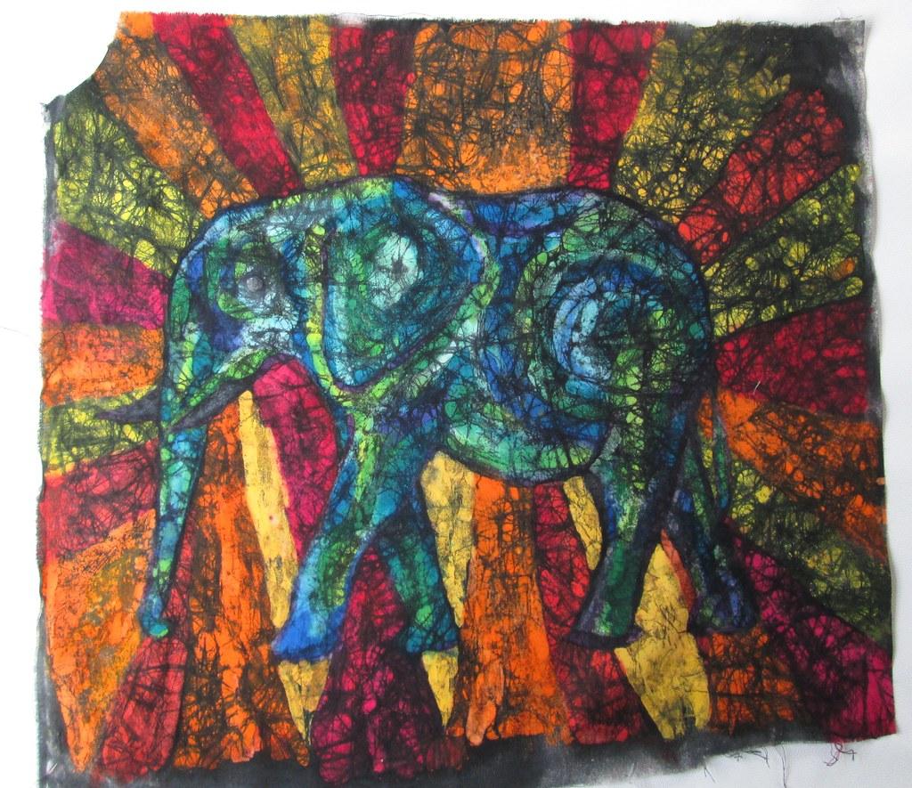 Mewarnai Batik Crayon B Warna
