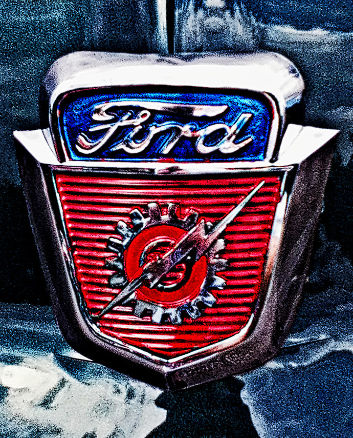 Ford Hood Lightning Bolt Logo
