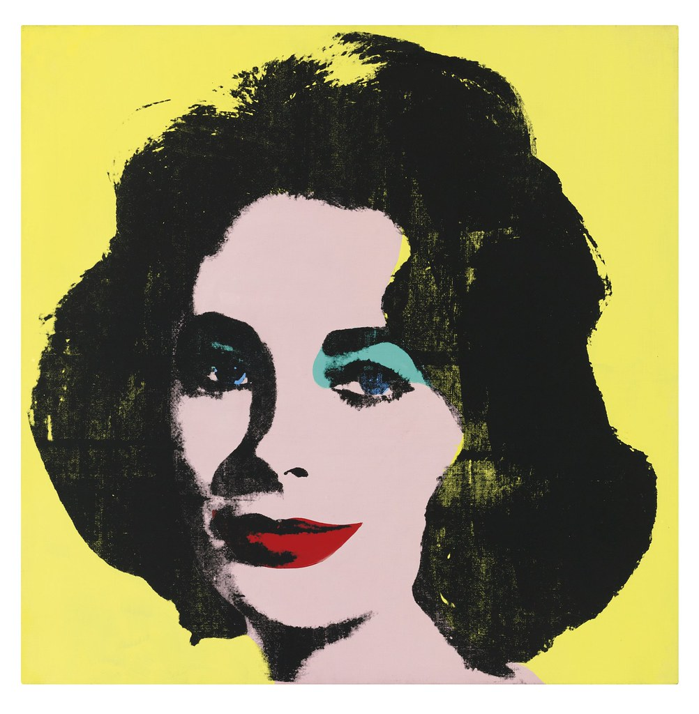 Professional Screeding Pop And Painting Designs Works: Andy Warhol - Liz #1 (Early Coloured Liz) [1963]