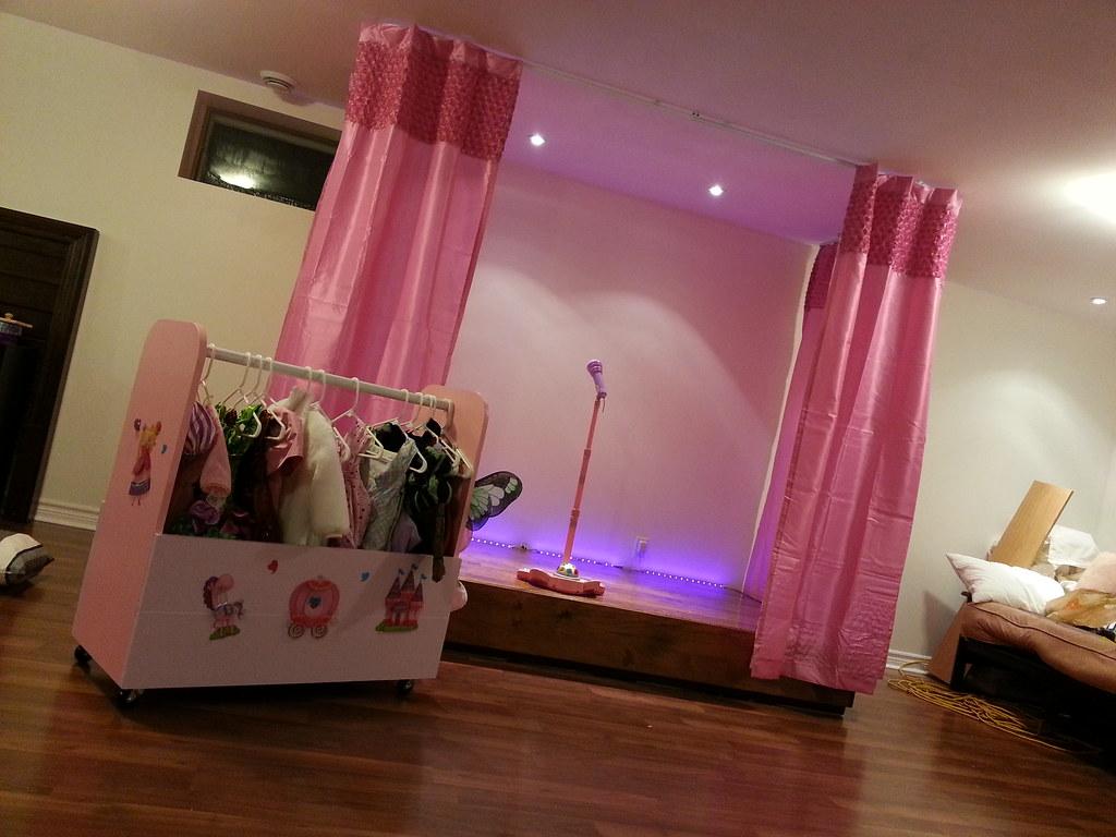 Kids Bedroom Decals Stage And Costume Wardrobe Kids Playroom Stage Built
