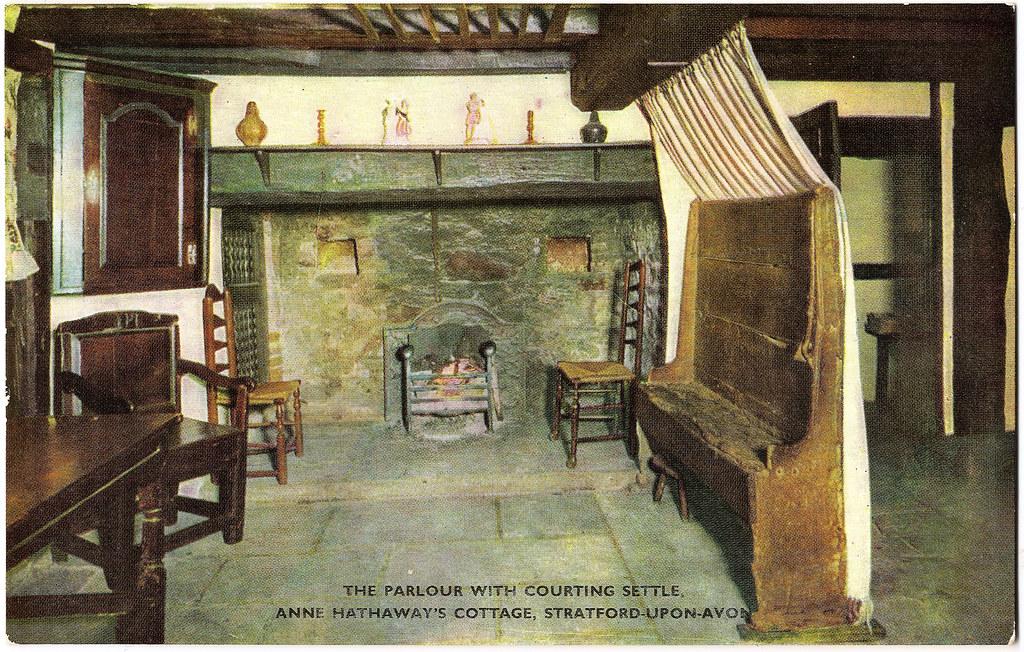 Anne Hathaway S Cottage Interior A Postally Unused