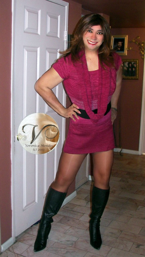 Sweater Dress  Lovely Sweater Dress And Boots For The -6943