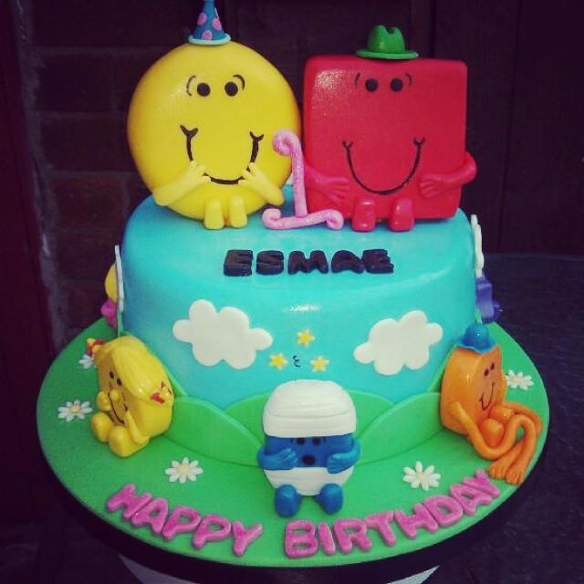 Mr Men And Little Miss Birthday Cake