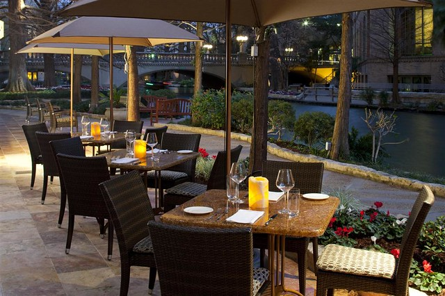 The westin riverwalk san antonio zocca restaurant outdoor for Antonio s italian cuisine