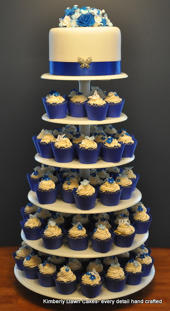 royal blue cupcake wedding cakes royal blue wedding cupcakes explore cakes 19363