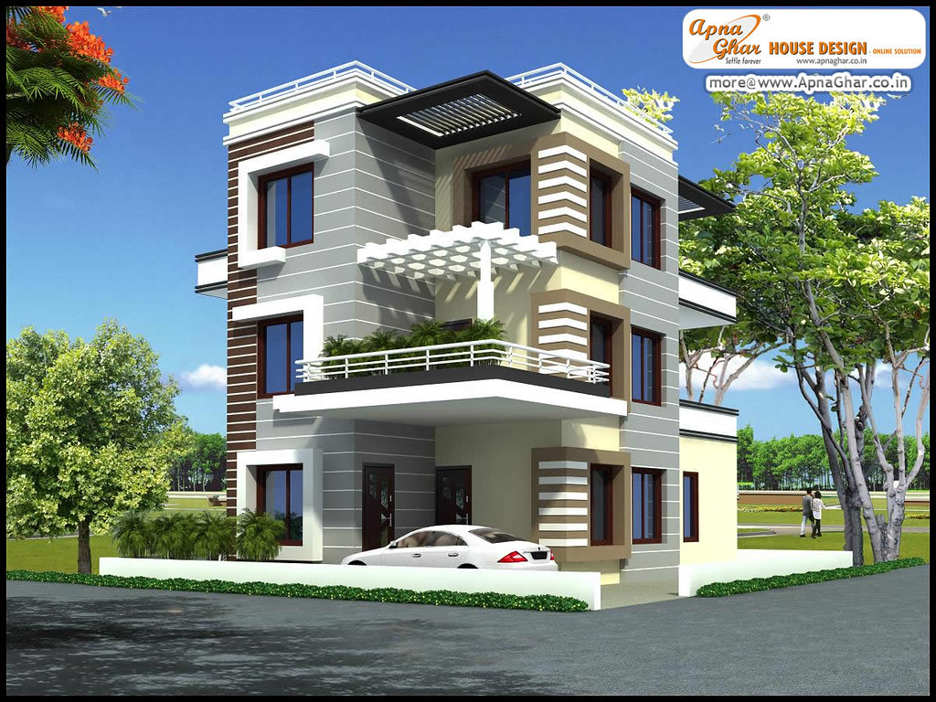 Triplex house design 5 bedrooms triplex house design in for House elevation for three floors building