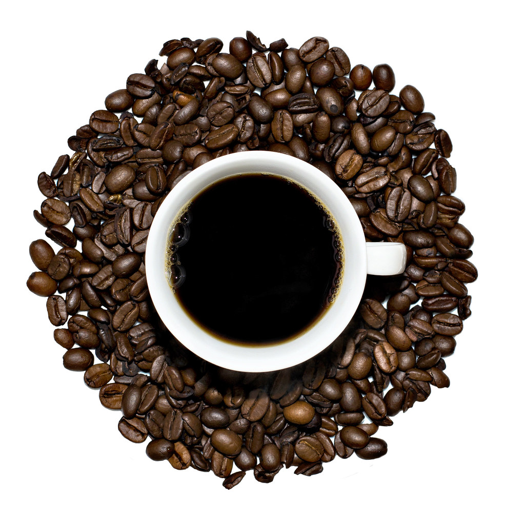 hot coffee white background - photo #30