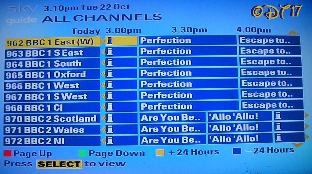 Sky Digital - Channels 962 - 972