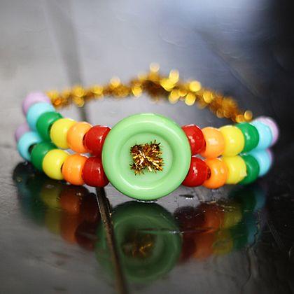 rainbow pony bead bracelet 420