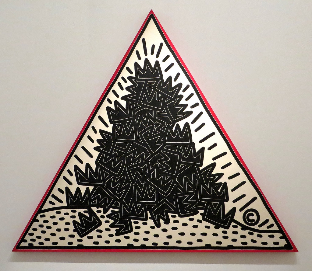 Keith Haring, A Pile of Crowns for Jean- Michel Basquiat ...