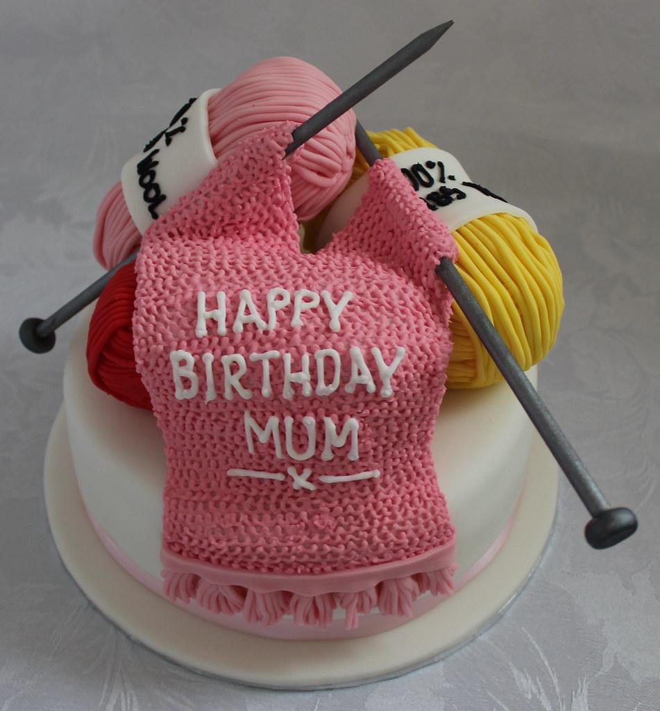 Happy Birthday Knitting Cake : Knitting birthday cake pauls creative cakes flickr