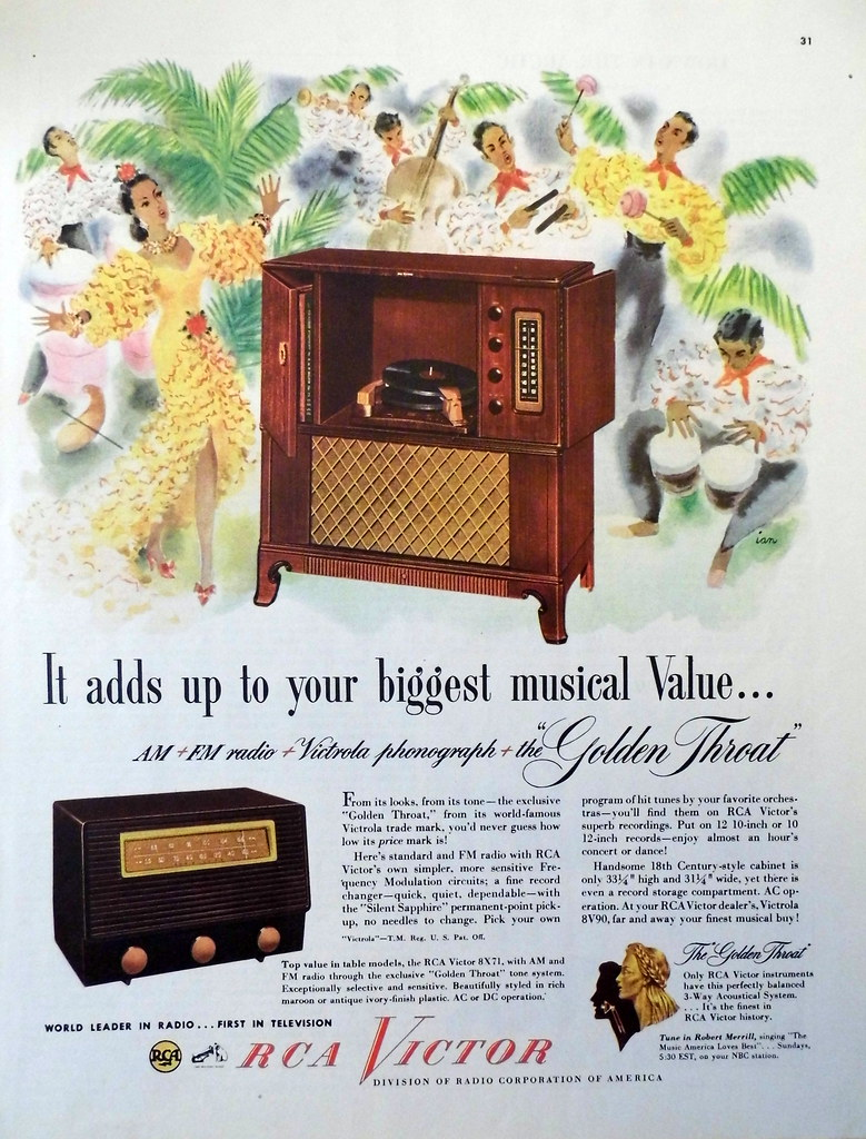 Vintage Radio Advertising Rca Victor Quot It Adds Up To You