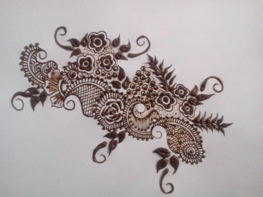 Henna Back Tattoo Designs On Paper