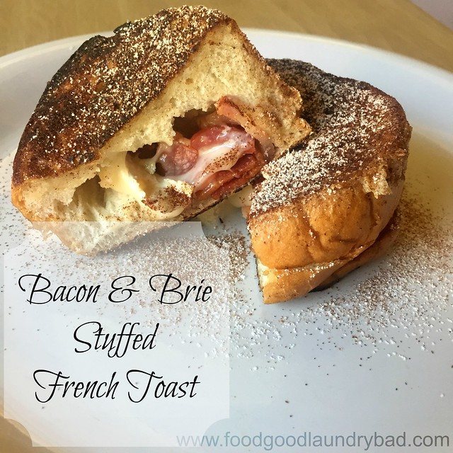 Bacon and brie stuffed french toast