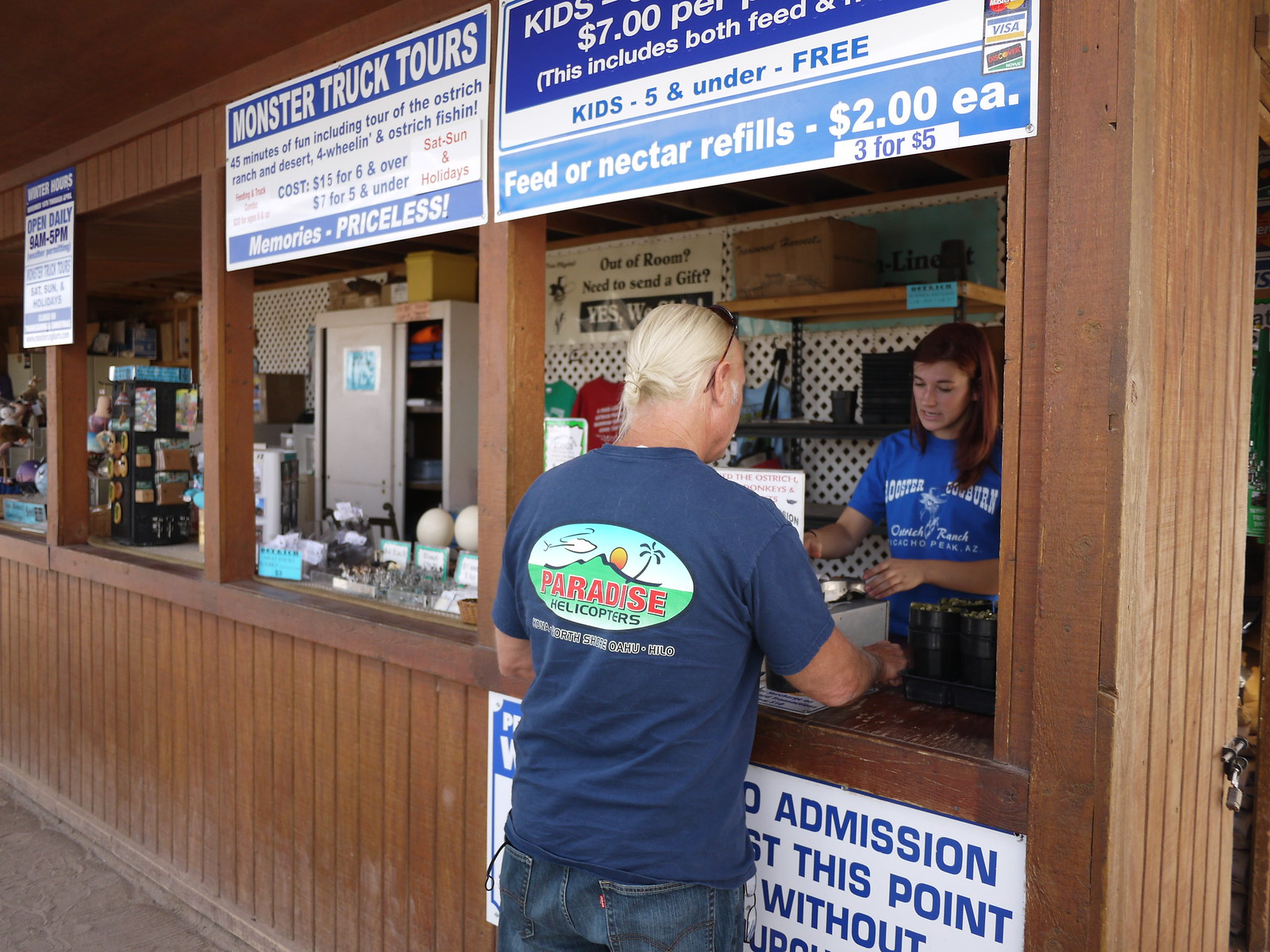 PIC: Rooster Cogburn Ostrich Ranch - Entrance Cashier