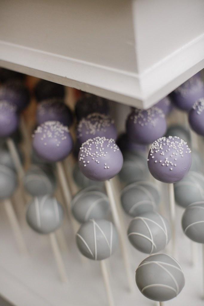 Purple Wedding Cake Pops