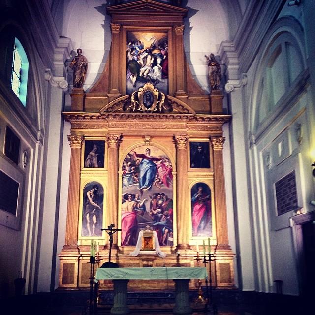 Uno de los retablos de Santo Domingo el Antiguo con cuadros de El Greco