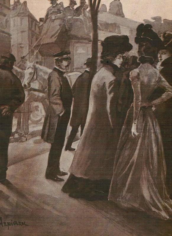 Dibujo de Salvador Azpiazu en 1905