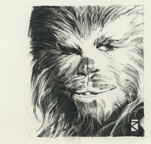 Star Wars illustrations by Russell Walks - Chewbacca