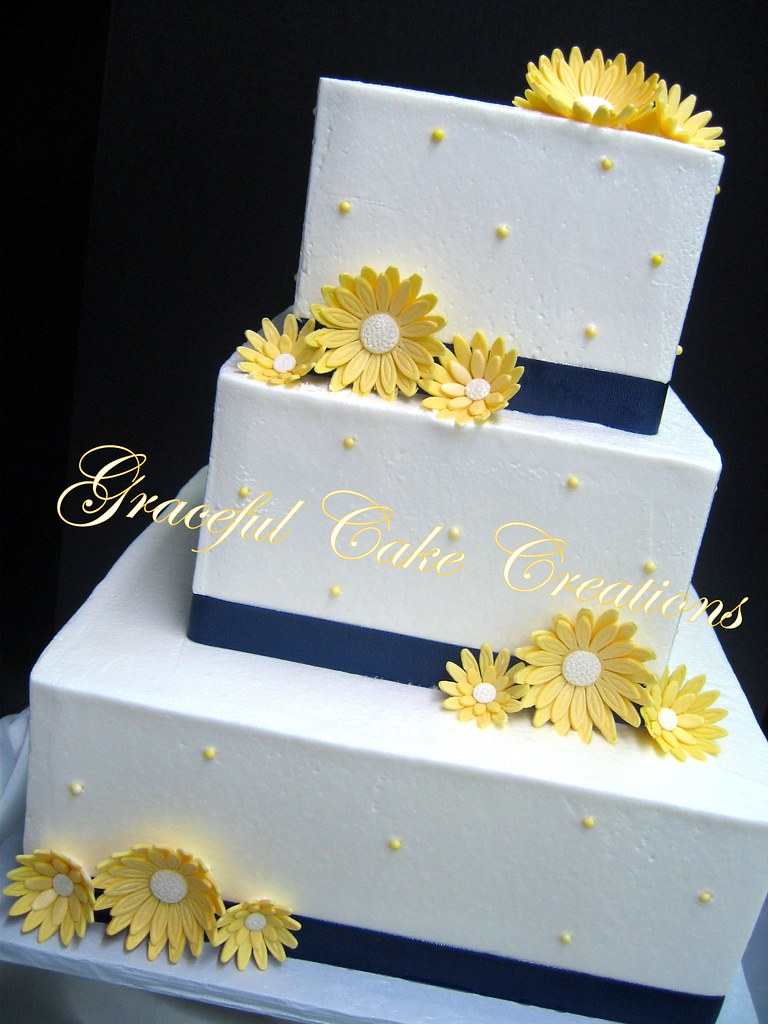 Simple Wedding Cake Yellow: Sunflower wedding cakes archives the ...