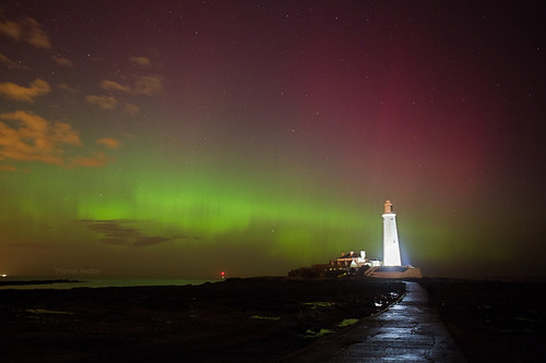 Aurora over Whitley Bay