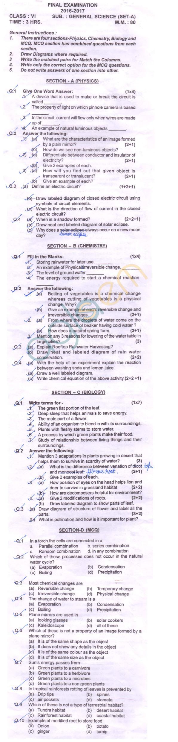 Cbse class 6 sa2 question paper for english   aglasem schools.