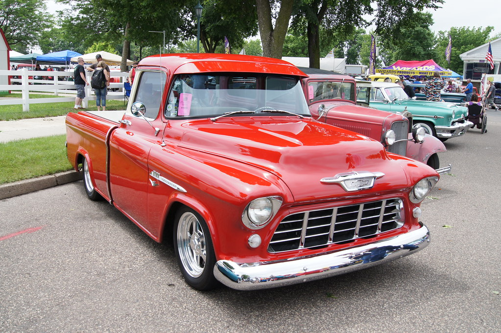 55 Chevrolet 3100 Cameo Carrier Pick Up Msra Back To