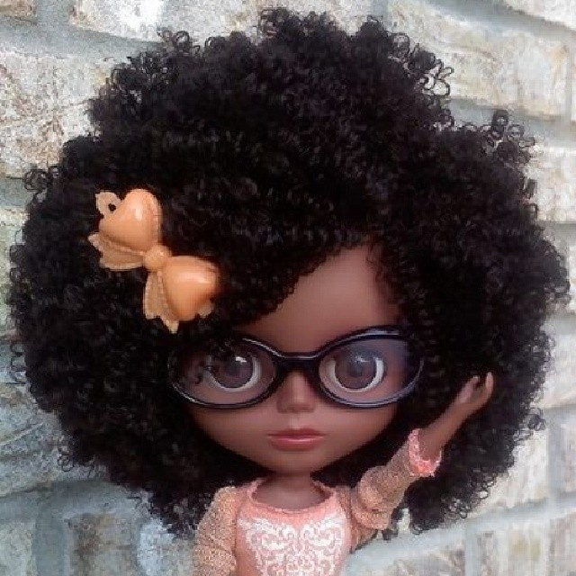Black Blythe Natural Hair Doll